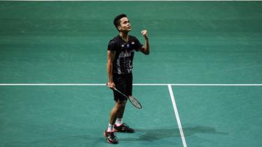 Anthony Sinisuka Ginting di Singapore Open 2019 - INDOSPORT