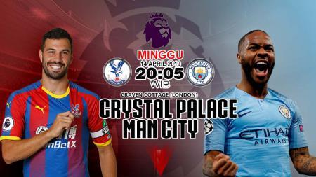 Prediksi pertabdingan Liga Primer Inggris Crystal Palace vs Manchester City . - INDOSPORT