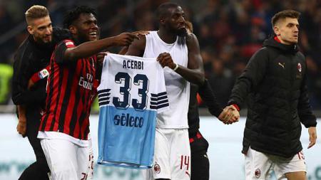Aksi tak terpuji dari pemain Milan, Bakayoko usai laga melawan Lazio akhir pekan kemarin di San Siro. - INDOSPORT