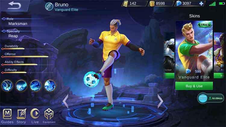 Bruno Mobile Legends Neymar. Foto: lerpicf.pw Copyright: lerpicf.pw