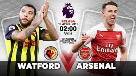 Pertandingan Watford vs Arsenal. Grafis:Tim/Indosport.com - INDOSPORT