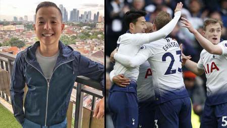Komika papan atas Indonesia, Ernest Prakasa (kiri) mengidolakan klub Liga Primer Inggris, Tottenham Hotspur. - INDOSPORT