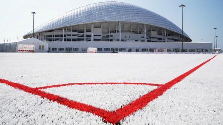 Salah satu stadion tuan rumah di Piala Dunia Rusia membangun lapangan dengan menggunakan limbah plastik sebagai bahan rumput sintetis.