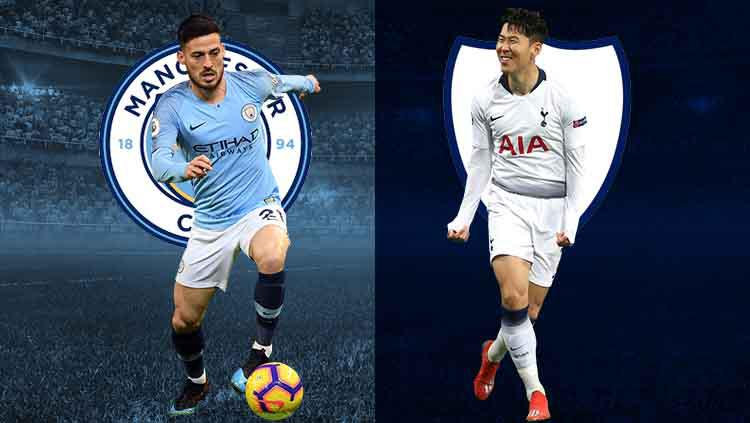 David Silva vs Son Heung-Min jelang laga Liga Champions 8 besar. Copyright: footyrenders.com/Eli Suhaeli/INDOSPORT