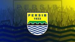 Indosport - Logo Tim sepak bola asal Kota Bandung lautan api ,PERSIB 16/4/2019.