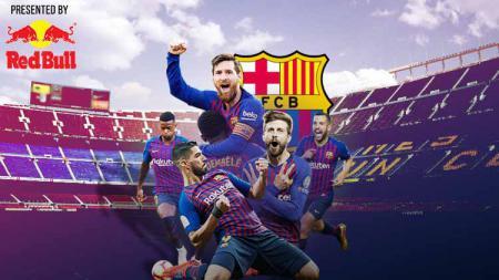 Aksi selebrasi pemain Barcelona di Camp Nou - INDOSPORT
