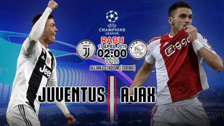 Prediksi pertandingan liga Champions Juventus vs Ajax. - INDOSPORT