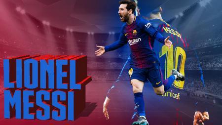 Lionel Messi adalah seorang pemain sepak bola yang saat ini bermain untuk FC Barcelona, bermain sebagai penyerang. - INDOSPORT