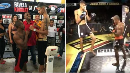 Savio vs Celso, dua petarung MMA yang memiliki tinggi badan yang berbeda. - INDOSPORT