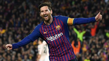 Lionel Messi dikabarkan akan meninggalkan klub usai mencetak gol ke-600. - INDOSPORT