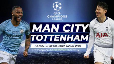 Prediksi pertandingan Liga Champion Manchester City vs Tottenham. - INDOSPORT