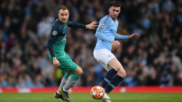 Blunder Aymeric Laporte yang gagalkan Manchester City ke semifinal Liga Champions. (Laurence Griffiths/Getty Images) Copyright: Laurence Griffiths/Getty Images