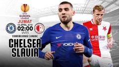 Indosport - Pertandingan Chelsea vs Slavia Prague. Grafis: Tim/Indosport.com