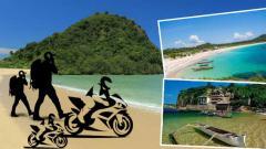 Indosport - Ilustrasi deretan pantai indah yang akan manjakan wisatawan dan rider di sekitar Sirkuit Mandalika