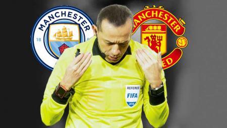 Cuneyt Cakir, wasit yang kini dibenci dua klub kota Manchester. TF-Images/Getty Images - INDOSPORT