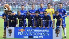 Indosport - Skuat Arema FC di Piala Presiden 2019. Ian Setiawan/INDOSPORT