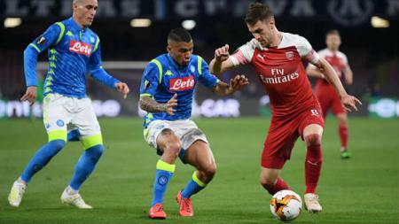 Aaron Ramsey saat membela Arsenal kala melawan Napoli di liga Europa - INDOSPORT