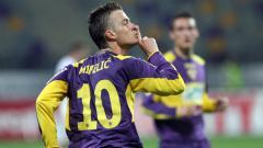 Indosport - Rene Mihelic saat melakukan selebrasi.