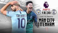 Indosport - Pertandingan Manchester City vs Tottenham Hotspur. Grafis:Tim/Indosport.com