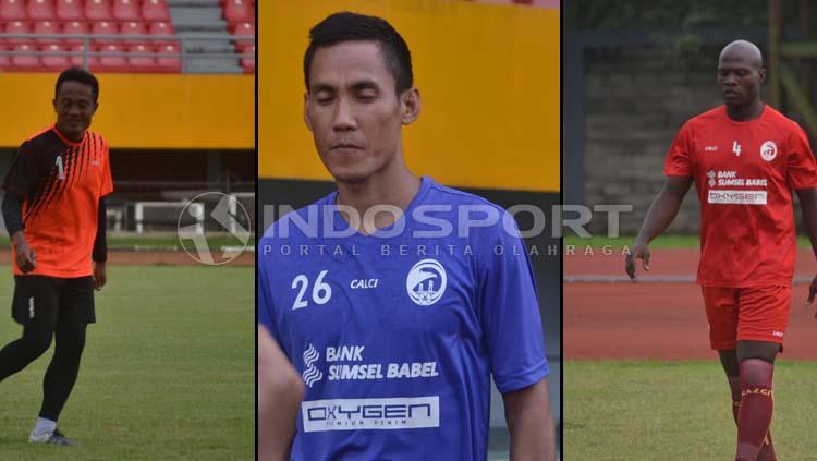 3 Pemain Senior Sriwijaya FC, Ferdiansyah, Ambrizal, dan Bruno Casimir. (Muhammad Effendi/INDOSPORT) Copyright: Muhammad Effendi/INDOSPORT