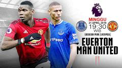 Indosport - Pertandingan Everton vs Manchester United. Grafis: Tim/Indosport.com
