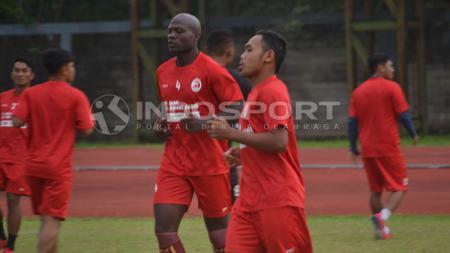 Skuat Sriwijaya FC saat sedang menggelar latihan. - INDOSPORT