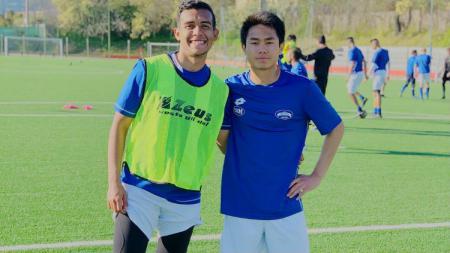 Pemain muda Emir Eranoto (kiri) yang kini bermain untuk klub Liga Italia, San Marco Juventina. - INDOSPORT