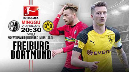 Pertandingan Freiburg vs Borussia Dortmund. Grafis: Tim/Indosport.com - INDOSPORT