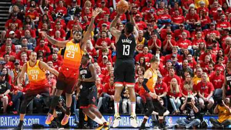 Houston Rockets vs Utah Jazz di NBA Playoffs 2019 game ke-3. - INDOSPORT