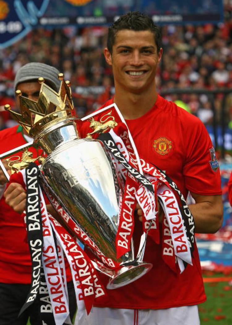Cristiano Ronaldo pernah meraih gelar Liga Primer Inggris bersama Man United. Copyright: Alex Livesey / GETTYIMAGES