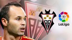 Indosport - Albacete Balompie klub lama Andres Iniesta bertarung di LaLiga.