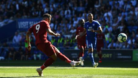 Roberto Firmino gagal memanfaatkan peluang yang ia dapatkan di depan gawang Cardiff. - INDOSPORT