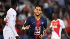 Indosport - Neymar saat tampil menghadapi Monaco, Senin (22/04/19), di Parc des Princes.
