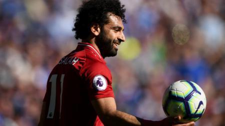 Mohamed Salah punya catatan gol dan assist lebih baik dibanding Cristiano Ronaldo saat menjalani musim terbaik mereka. - INDOSPORT