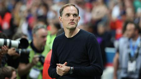 Pelatih Paris Saint-Germain (PSG), Thomas Tuchel, merasa Neymar kurang cocok menjadi kapten tim. Xavier Laine/Getty Images. - INDOSPORT