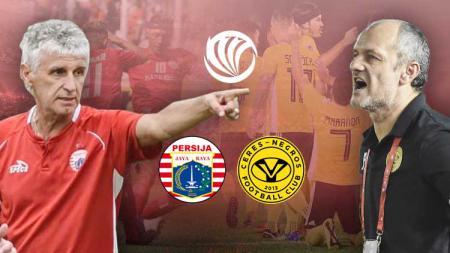 Ivan Venkov Kolev (Persija Jakarta) vs Risto Vidakovic (Ceres Negros). - INDOSPORT