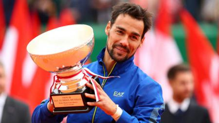Fabio Fognini juara Monte-Carlo Masters 2019 usai mengalahkan Dusan Lajovic, Minggu (22/04/19). - INDOSPORT