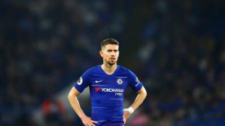 Gelandang tengah klub Liga Inggris, Chelsea, Jorginho. - INDOSPORT