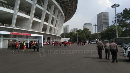 Situasi Stadion GBK jelang laga Persija vs Ceres.