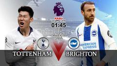 Indosport - Prediksi pertandingan Tottenham vs Brighton.