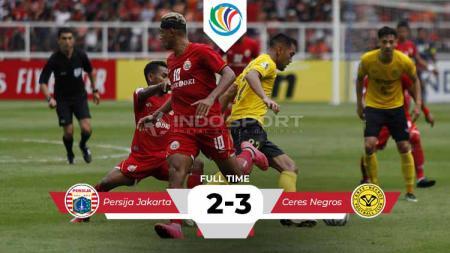 Hasil pertandingan Persija Jakarta vs Cers Negros. - INDOSPORT