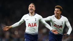 Indosport - Eriksen ketika merayakan gol ke gawang Brighton