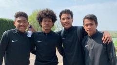 Indosport - Penggawa Garuda Select (kiri ke kanan: Fajar Faturrahman, Bagus Kahfi, Brylian Aldama, Mochammad Supriadi).
