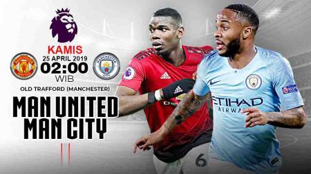 Pertandingan Manchester United vs Manchester City. Grafis:Tim/Indosport.com - INDOSPORT