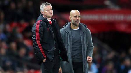 Jelang laga kontra Manchester City, Ole Gunnar Solskjaer menyatakan jika Pep Guardiola tak akan mampu menangani Manchester United. - INDOSPORT