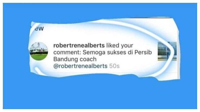 Robert Rene Albert menyukai komentar dari akun @arn_awal (Twitter @KabarKobotoh). Copyright: Twitter @KabarKobotoh