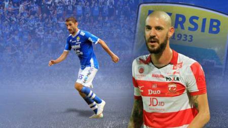 Dane Milovanovic dan Srdjan Lopicic Persib Bandung. - INDOSPORT