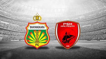 Logo Bhayangkara FC vs PSM Makassar - INDOSPORT