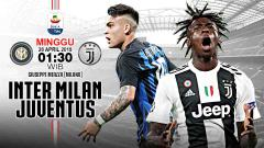 Indosport - Pertandingan Inter Milan vs Juventus. Grafis: Tim/Indosport.com