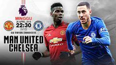 Indosport - Pertandingan Manchester United vs Chelsea. Grafis: Tim/Indosport.com